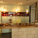 Breakfast buffet and wine bar