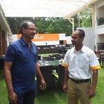 One of the staff members Mr. Aamir Khan