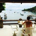Vue de la terrasse pendant le petit déjeuner !