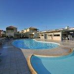 Pool area and bar