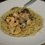 prawn and clam pasta, was amazing!