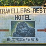 The hotel signboard
