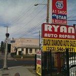View of hotel - just past Ryans Auto Repairs