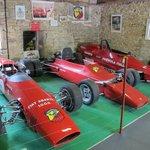 Rare display of race cars
