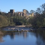 Barnard Castle from the Silver Bridge on the River Tees
