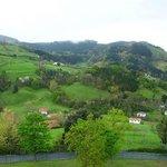 Vistas a la montaña desde el balcón del comedor