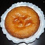Detalle de bienvenida: Tarta Vasca