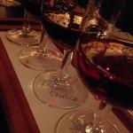 flight of wine
