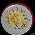 Lieu jaune, écrasée de pommes de terre et crème de carottes