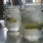 Refreshing lime drink