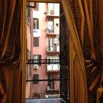 View to courtyard & balcony
