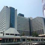 Vista do hotel, do Rio Chao Phraya