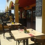 enjoy our nice sunny terras