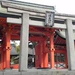 Rear entrance to Sumiyoshi taisha