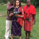 Dressed as a Masai Warrior!