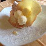 Cialda e gelato alla vaniglia!!! ��