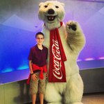 Chillin' with the Coke Bear