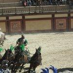 Chars à 4 chevaux chez lez romains