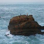 A côté du rocher