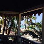 vista desde el bar del riu en la playa
