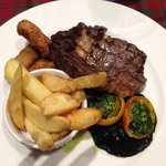 Locally reared steak - yum