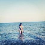 Moi at the Perissa beach