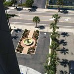 The view from our 9th floor bedroom overlooking the beautiful fountain