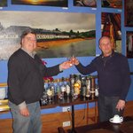 Steve (on right) sharing a wee dram!