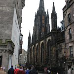 Walking with Bill down the picturesque streets of Edinburgh