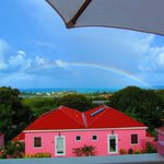 Rainbow view from the Villas - building is not this bright in person