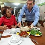 At restaurant Memoli Kebap, very friendly