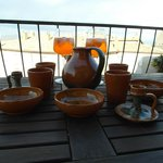 Aperol Spritz on the terrazo after ceramic shopping at Orviet'Anna: Vicolo dei Dolci, 8