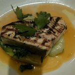 Sword Fish with braised Bok choy and Spinach