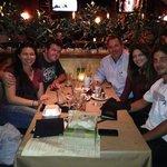 The whole gang enjoyed dinner