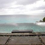 Infinity pool overlooking infinisea