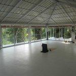 Yoga-Bereich auf dem Dach