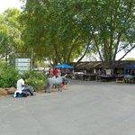 African souvenir market at Howick Falls