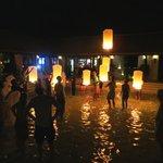 khom loy lantern ceremony