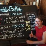 """Sandra with the New """"Specials"""" Board"""