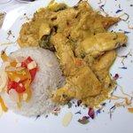 Pollo al curry e riso basmati