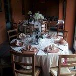 allestimento tavoli veranda