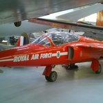 Beautiful petite Folland Gnat from training hanger