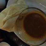 Roti Canai and Curry dip