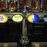 A great choice of draught beers