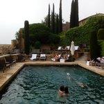 les jardins depuis la piscine