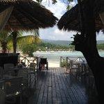 lunch place right near beach (Jerk Chicken)