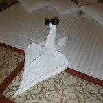 Ali the cleaners towel art, which you can take classes in