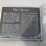 Plaque about the river