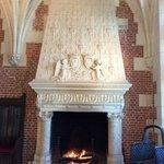 Fireplace inside the Chateau