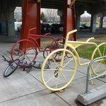 Bike racks...shaped like...bikes
